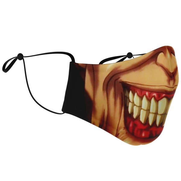 jaw titan v3 attack on titan premium carbon filter face mask 856864 - Attack On Titan Store