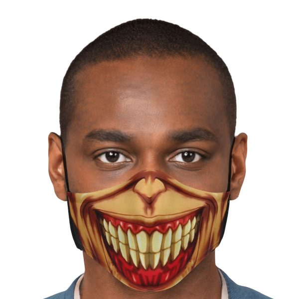 jaw titan v3 attack on titan premium carbon filter face mask 939632 - Attack On Titan Store