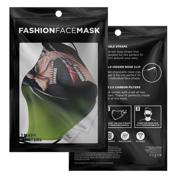 jaw titan v4 attack on titan premium carbon filter face mask 346249 - Attack On Titan Store