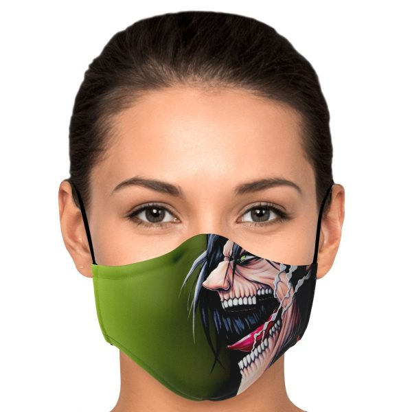 jaw titan v4 attack on titan premium carbon filter face mask 911373 - Attack On Titan Store