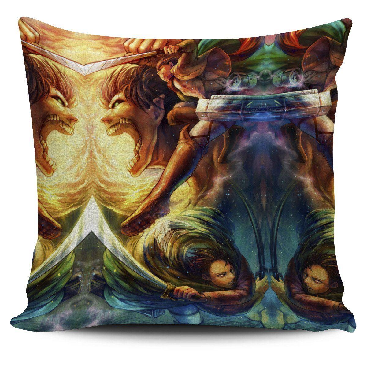 vibrant attack on titan pillow cover 644493 - Attack On Titan Store