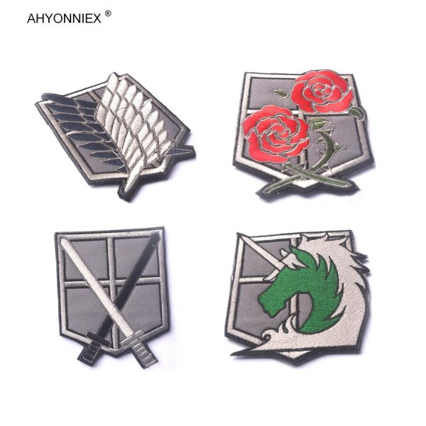 1PC PVC 3D Attack On Titan Wings Of Liberty Investigation Corps Embroidery Badges Patch Military Tactical 3 - Attack On Titan Store