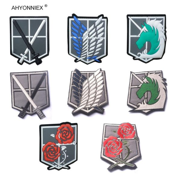 1PC PVC 3D Attack On Titan Wings Of Liberty Investigation Corps Embroidery Badges Patch Military Tactical - Attack On Titan Store