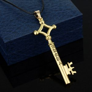 1Pcs Attack On Titan Eren Key Necklace Metal Pendant Necklace Eren Cosplay Jewelry Toy Anime Figure 1 - Attack On Titan Store