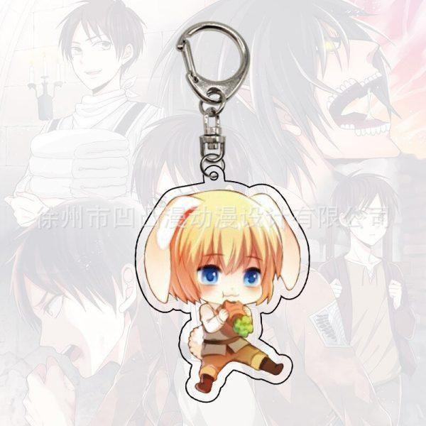 1pc Anime Eren J ger Mikasa Ackerman Armin Arlert acrylic key chain pendant 4 - Attack On Titan Store