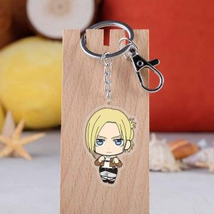 2019 New Arrival Attack on Titan Japanese anime figure acrylic mobile phone charms keychain strap keyring-