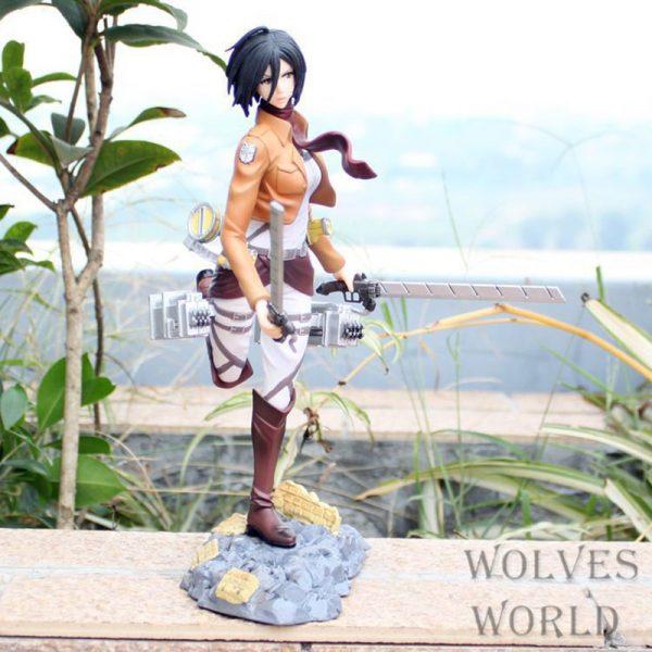 25cm Attack on Titan Mikasa Ackerman Action Figure Anime Petit Chara Land Mikasa Ackerman PVC Collection 3 - Attack On Titan Store