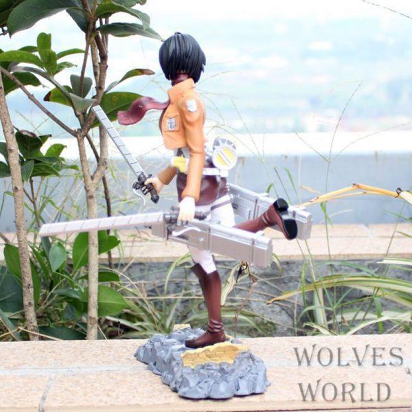 25cm Attack on Titan Mikasa Ackerman Action Figure Anime Petit Chara Land Mikasa Ackerman PVC Collection 4 - Attack On Titan Store