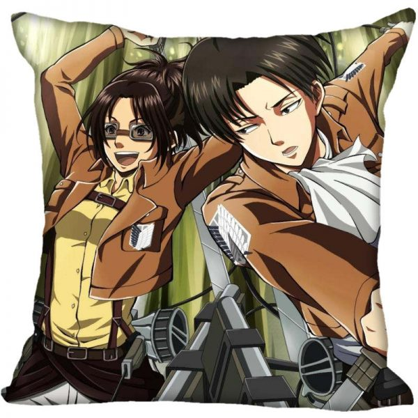 45X45cm 40X40cm one sides Pillow Case Modern Home Decorative Attack on Titan Pillowcase For Living Room 1 - Attack On Titan Store