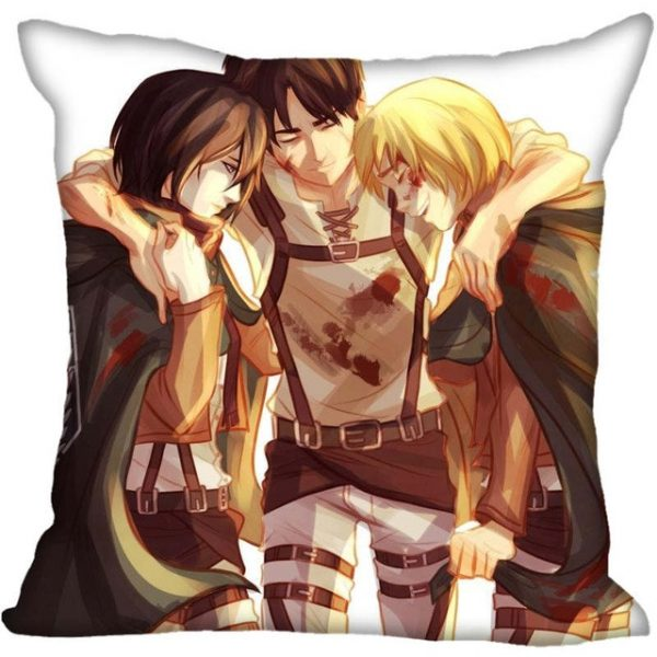 45X45cm 40X40cm one sides Pillow Case Modern Home Decorative Attack on Titan Pillowcase For Living Room 1.jpg 640x640 1 - Attack On Titan Store