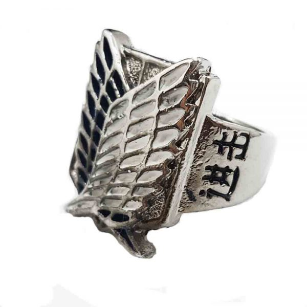 9 styles Hot Anime 1pcs lot Attack on Titan Rings Can Drop shipping Metal High Quality - Attack On Titan Store