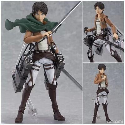 Anime Attack on Titan 15cm Eren Mikasa Ackerman Levi Rivaille Figma PVC Action Figure Model - Attack On Titan Store