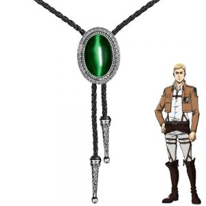 Anime Attack on Titan Leader Erwin Smith Cosplay Necklace Shingeki No Kyojin Pendant Bolo Tie Prop - Attack On Titan Store