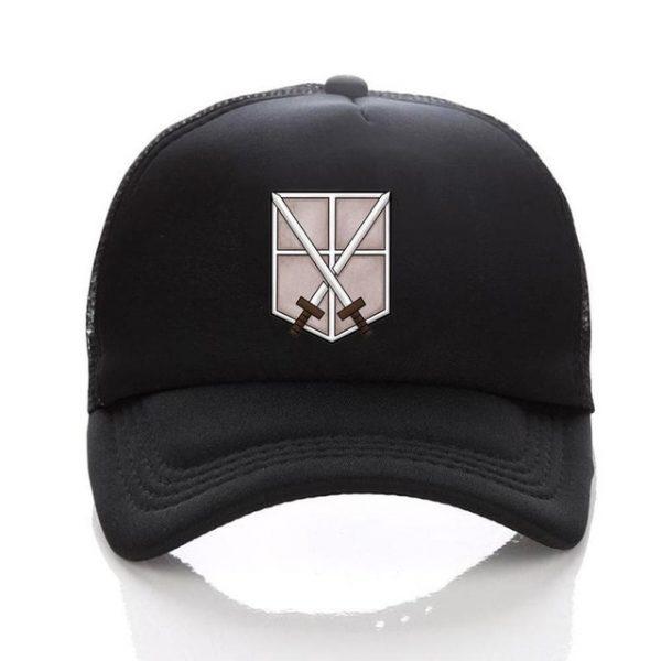 Anime Attack on Titan hat Regiment Scout Legion Symbol Black Mesh Trucker Cap Baseball Cap Snapback 2.jpg 640x640 2 - Attack On Titan Store