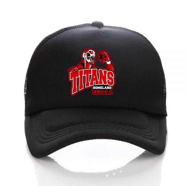 Anime Attack on Titan hat Regiment Scout Legion Symbol Black Mesh Trucker Cap Baseball Cap Snapback 5 - Attack On Titan Store