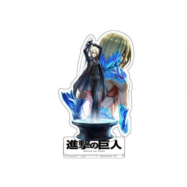 Anime Figure Attack on Titan Keychain Double Sided Acrylic Stand Model Plate Desk Decor Standing Sign 4 - Attack On Titan Store