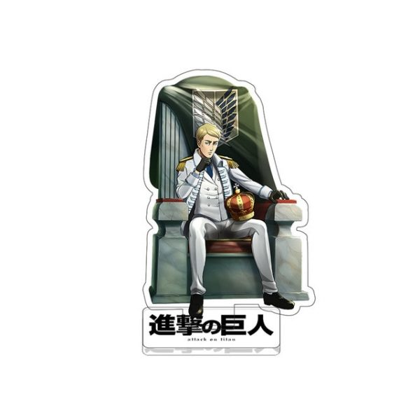 Anime Figure Attack on Titan Keychain Double Sided Acrylic Stand Model Plate Desk Decor Standing - Attack On Titan Store