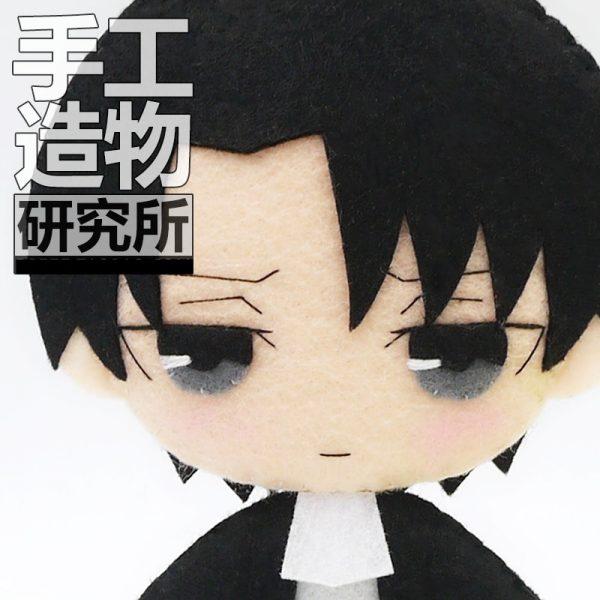 Anime Levi Ackerman 12cm Keychain Handmade Materical Package Toys Mini Doll Stuffed DIY Plush Children Birthday 1 - Attack On Titan Store