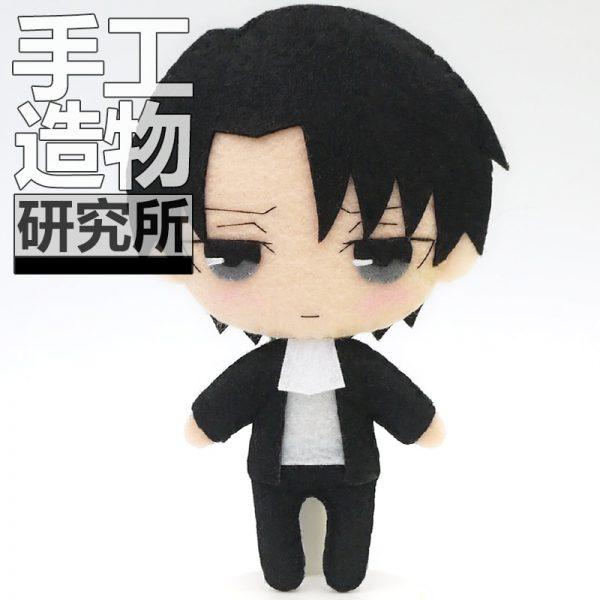 Anime Levi Ackerman 12cm Keychain Handmade Materical Package Toys Mini Doll Stuffed DIY Plush Children Birthday - Attack On Titan Store