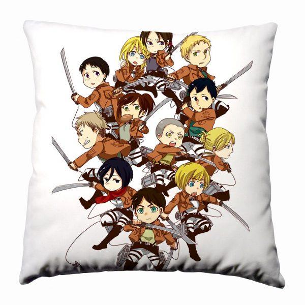 Anime Manga Shingeki no Kyojin Attack on Titan Silk Pillowcase 40x40cm Pillow Case Cover Seat Bedding 5 - Attack On Titan Store