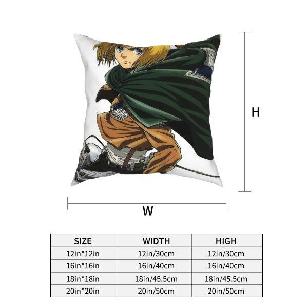 Attack On Titan Manga Armin Arlert SNK Square Pillow Case Throw Pillow Awesome Pillowcover Home Decor 1 - Attack On Titan Store