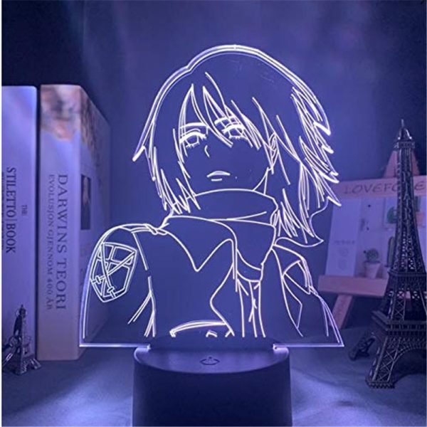 Attack On Titans LED Lamp Levi Ackerman 3D Anime Night Light Bedroom Decor Kid Lampe Home 4 - Attack On Titan Store