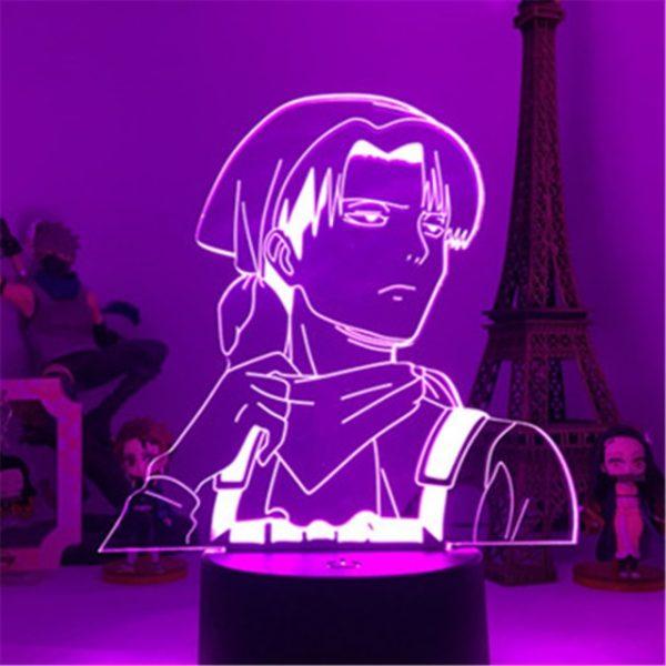 Attack On Titans LED Lamp Levi Ackerman 3D Anime Night Light Bedroom Decor Kid Lampe Home 8.jpg 640x640 8 - Attack On Titan Store