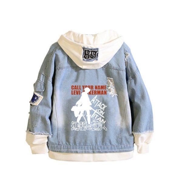Attack on Titan Anime Denim Jackets Scout Legion Print Jeans Sweatshirt Unisex Harajuku Streetwear Plus - Attack On Titan Store