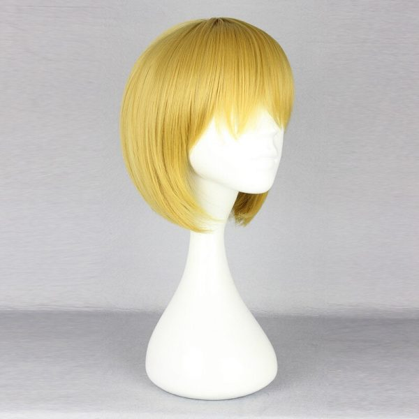 Attack on Titan Armin Arlert Cosplay Wig Blond Hair with Bangs Heat Resistance Hair Yellow Wig 1 - Attack On Titan Store