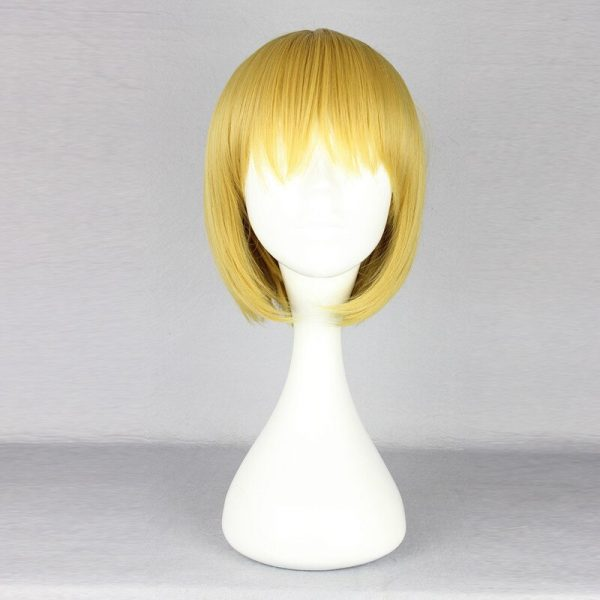Attack on Titan Armin Arlert Cosplay Wig Blond Hair with Bangs Heat Resistance Hair Yellow Wig 2 - Attack On Titan Store