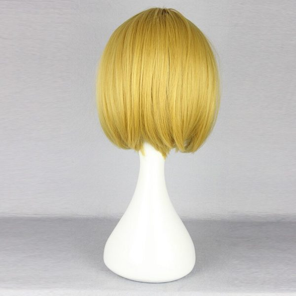 Attack on Titan Armin Arlert Cosplay Wig Blond Hair with Bangs Heat Resistance Hair Yellow Wig 3 - Attack On Titan Store