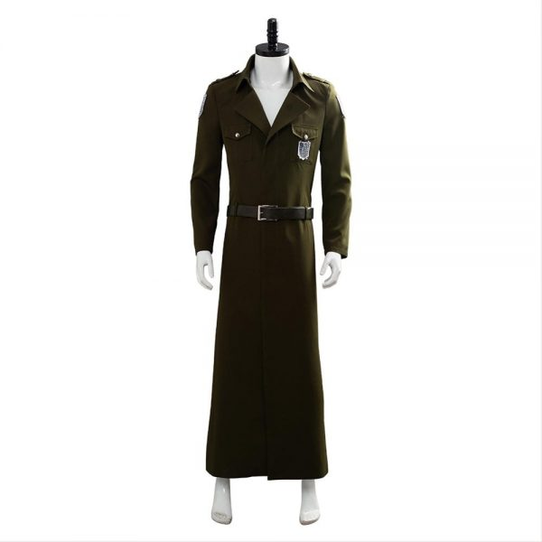 Attack on Titan Cosplay Levi Costume Scouting Legion Soldier Coat Trench Jacket Adult Men Halloween Carnival 1 - Attack On Titan Store