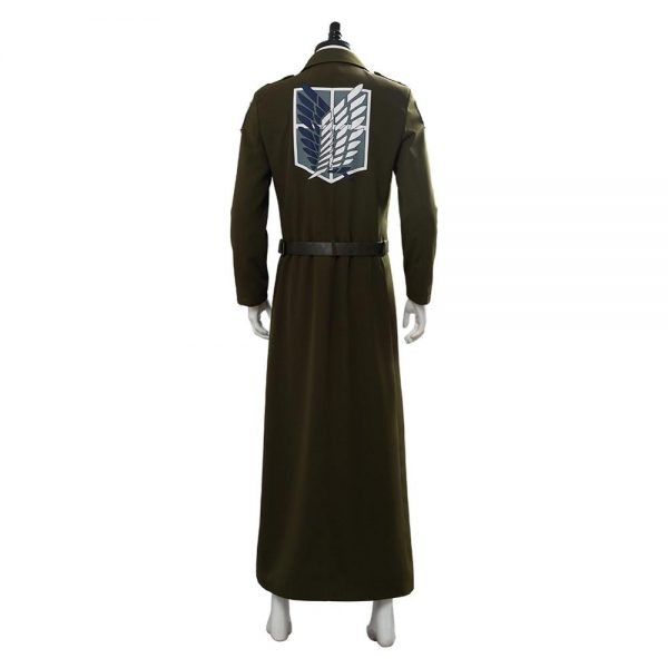 Attack on Titan Cosplay Levi Costume Scouting Legion Soldier Coat Trench Jacket Adult Men Halloween Carnival 2 - Attack On Titan Store