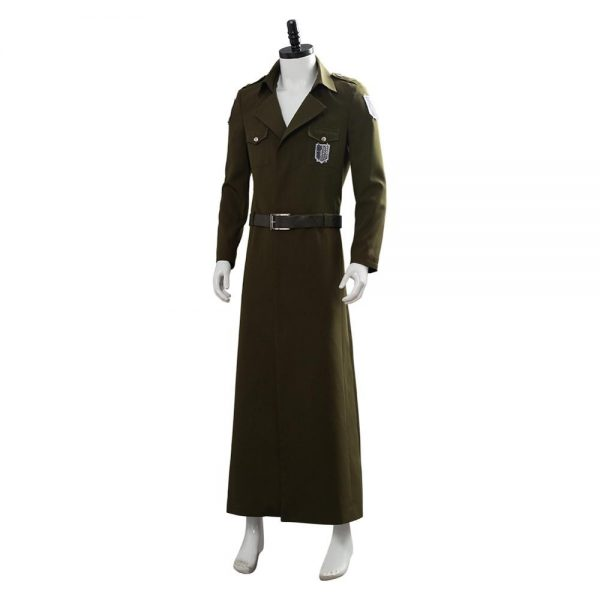 Attack on Titan Cosplay Levi Costume Scouting Legion Soldier Coat Trench Jacket Adult Men Halloween Carnival 3 - Attack On Titan Store