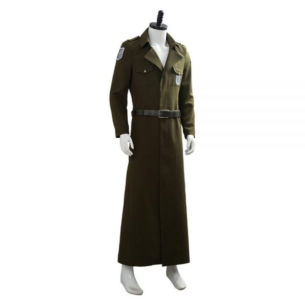 Attack on Titan Cosplay Levi Costume Scouting Legion Soldier Coat Trench Jacket Adult Men Halloween Carnival 4 - Attack On Titan Store
