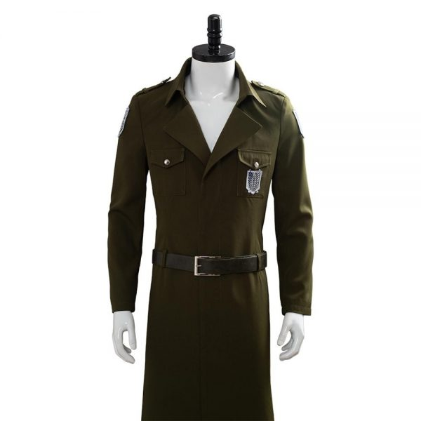 Attack on Titan Cosplay Levi Costume Scouting Legion Soldier Coat Trench Jacket Adult Men Halloween Carnival 5 - Attack On Titan Store