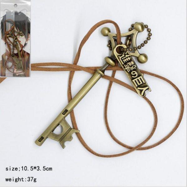 Attack on Titan Eren password cosplay pendant Necklace Shingeki no Kyojin Anime Rope Chain Necklace White - Attack On Titan Store