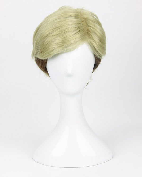 Attack on Titan Erwin Smith Wig Short Blonde Brown Ombre Color Cosplay Wig 1 - Attack On Titan Store