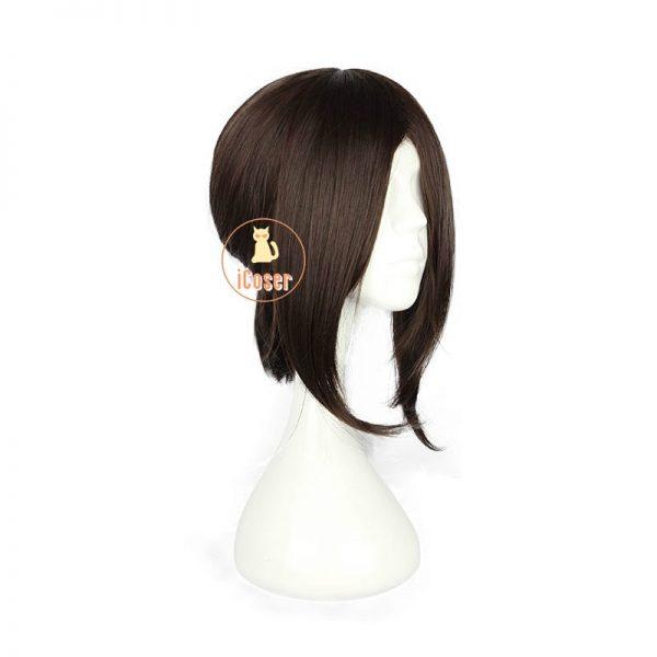 Attack on Titan Hange Zoe Cosplay Wig Dark Brown Synthetic Hair with Wig Cap Hanji Zoe 1 - Attack On Titan Store
