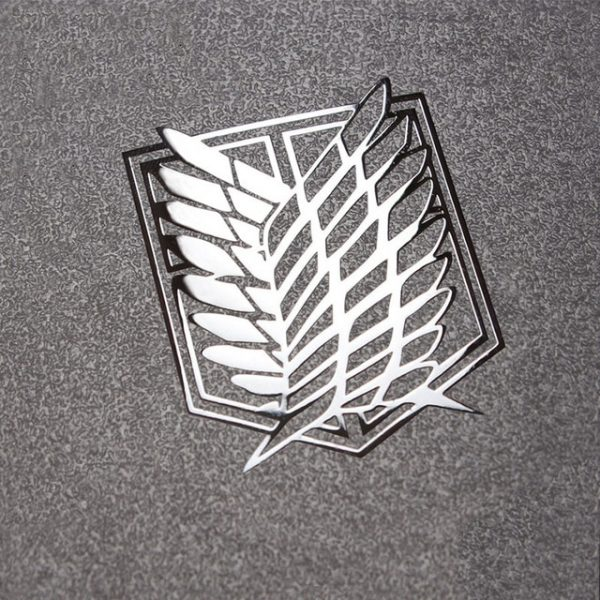 Attack on Titan Metal Stickers Scouting Legion Badge LOGO Wings of Freedom Personality Sticker For - Attack On Titan Store