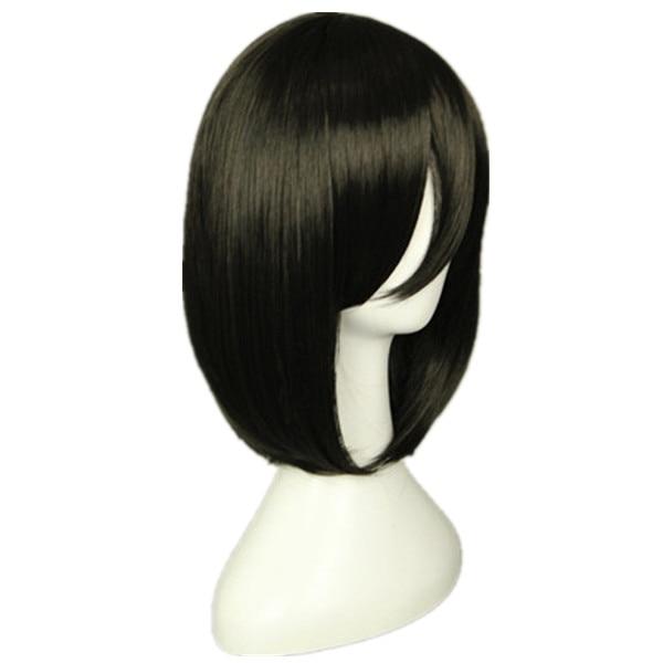 Attack on Titan Mikasa Ackerman Short Bob Black Heat Resistant Cosplay Costume Wig 1 - Attack On Titan Store