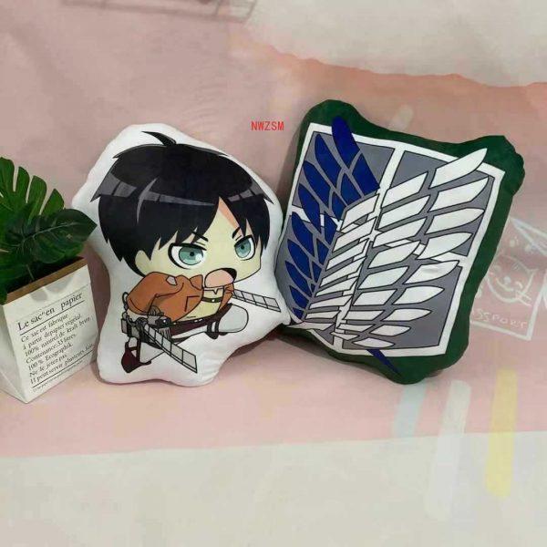 Attack on Titan Pillow Toy Anime Levi Ackerman Plush Stuffed Doll Double Sided Pillowcase 40cm Children 4 - Attack On Titan Store