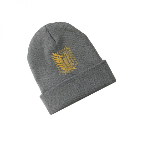 Attack on Titan Wings of Freedom Anime Skullies Caps Knitted Beanies Winter Warm Hats Men Women 1 - Attack On Titan Store