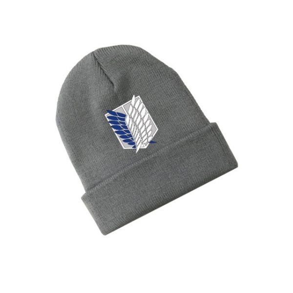 Attack on Titan Wings of Freedom Anime Skullies Caps Knitted Beanies Winter Warm Hats Men Women 2.jpg 640x640 2 - Attack On Titan Store