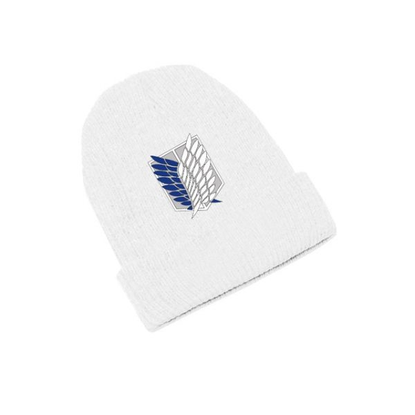 Attack on Titan Wings of Freedom Anime Skullies Caps Knitted Beanies Winter Warm Hats Men Women 3.jpg 640x640 3 - Attack On Titan Store