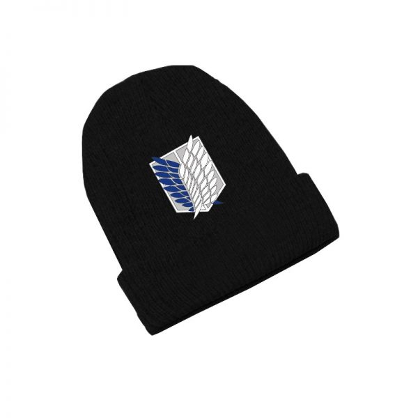 Attack on Titan Wings of Freedom Anime Skullies Caps Knitted Beanies Winter Warm Hats Men Women - Attack On Titan Store
