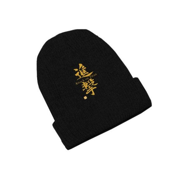 Attack on Titan Wings of Freedom Anime Skullies Caps Knitted Beanies Winter Warm Hats Men Women 8.jpg 640x640 8 - Attack On Titan Store