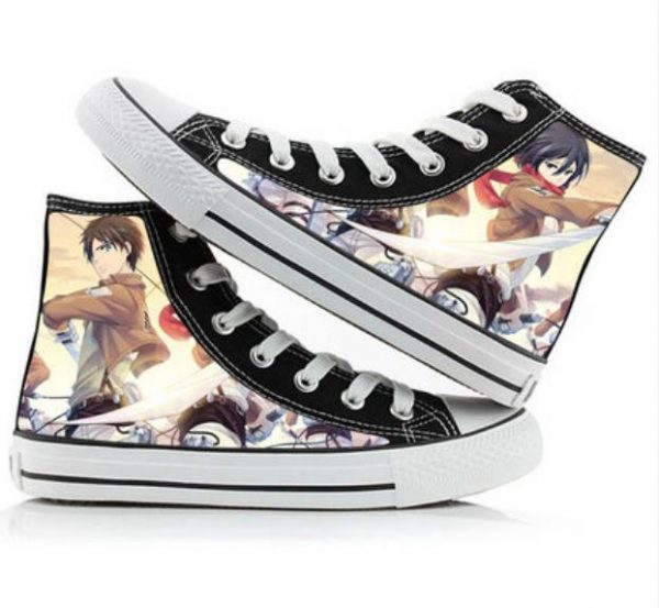 Attack on Titan cos shoes canvas shoes casual comfortable men and women college Anime cartoon student 9.jpg 640x640 9 - Attack On Titan Store
