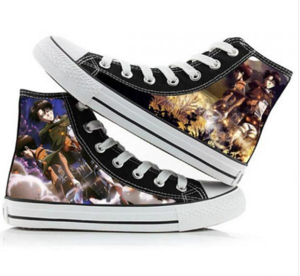 Attack on Titan cos shoes canvas shoes casual comfortable men and women college Anime cartoon - Attack On Titan Store