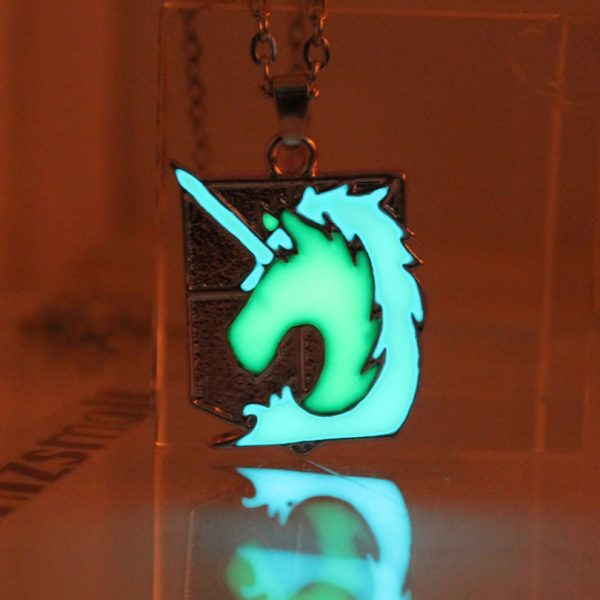 Attack on Titan glowing Necklace Pendants Corps badge Wings Of Liberty scouting legion Chain Jewelry Pendant 4 - Attack On Titan Store